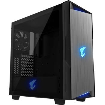Кутия Gigabyte Aorus AC300W rev. 2.0, ATX/Micro-ATX/Mini-ITX, HDMI, USB Type-C, RGB, черна, без захранване image