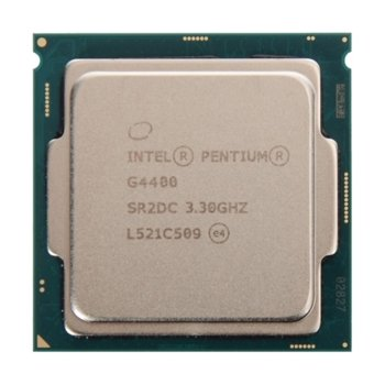 Процесор Intel Pentium G4400 двуядрен (3.3GHz, 3MB Cache, 350MHz-1GHz GPU, LGA1151), Tray, без охлаждане image