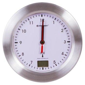 Часовник Bresser MyTime Bath, механичен/цифров, термометър, cтенен, непромокаем, бял image