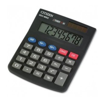 Калкулатор Citizen SDC-805, oсновни математически действия, черен image