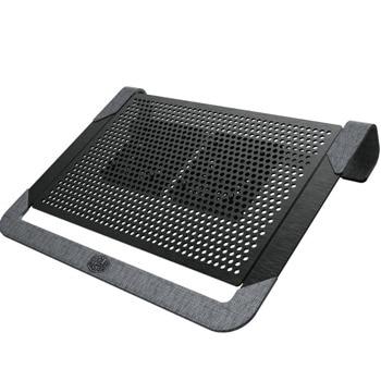 """Охлаждаща поставка за лаптоп Cooler Master Notepal U2 Plus V2 (MNX-SWUK-20FNN-R1), за лаптопи до 17"""", 2x 80mm вентилатора, черна image"""
