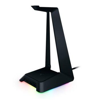 Стойка за слушалки Razer Base Station Chroma, RGB подсветка, черна image