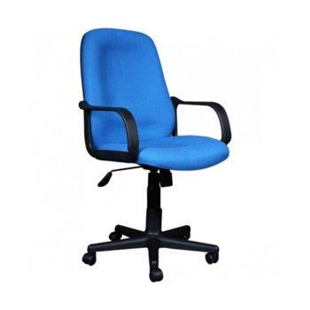 Офис стол Verona, дамаска, подлакътници, регулиране на височина, син image