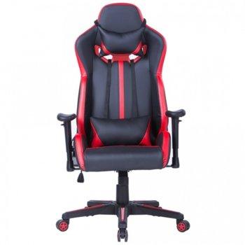 Стол Escape еко кожа черен червен product
