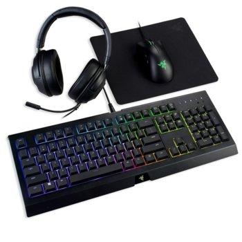 Комплект клавиатура и мишка Razer Epic Bundle 2019 (RZ85-02261300-B3M1), 6400dpi, USB, с подложка и слушалки, USB, черен image