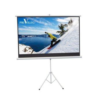 "Екран Privileg Compact TRW240, на стойка, 2400 x 1350 мм, 108"" (274.32 cm), 16:9 image"