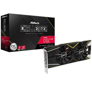 Видео карта AMD Radeon RX 5700 Challenger D, 8GB, ASROCK (RX5700 CLD 8GO), PCI-E 4.0, GDDR6, 256bit, Display Port, HDMI image