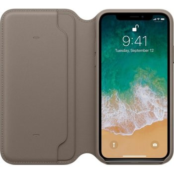 Apple iPhone X Leather Folio - Taupe product