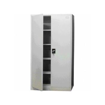 Шкаф OKOffice, 4 регулируеми рафта, метална конструкция, 90/40/195, сив image