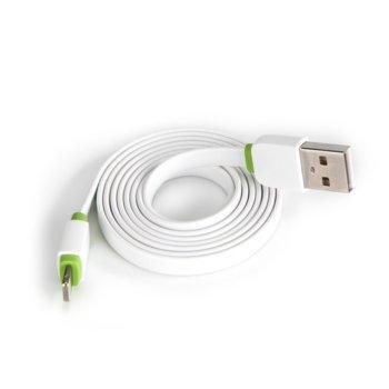 Кабел EMY MY-445, USB A(м) към Lightning(м) , 1.0м, Бял image