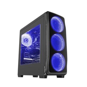 Кутия Genesis Titan 750 Blue, ATX, micro-ATX, mini-ITX, 1x USB 3.0, 2x USB 2.0, черна, без захранване image