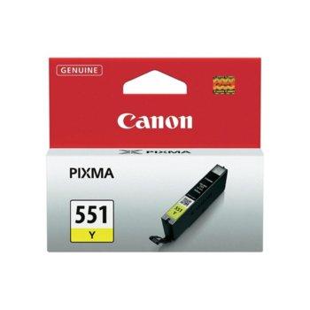ГЛАВА CANON PIXMA IP 7250, PIXMA MG 5450, PIXMA MG 6350 - Yellow ink tank - CLI-551Y - P№ 6511B001 - заб.: 300p image