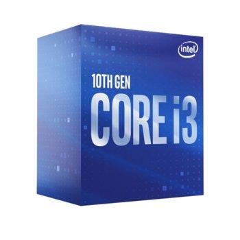 Процесор Intel Core i3-10100, четириядрен (3.6/4.3GHz, 6MB Cache, 0.35-1.1GHz GPU, LGA1200) BOX, с охлаждане image