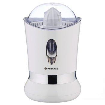 Цитрус преса Pyramis WI801, еднопосочно въртене, капак за защита от прах, 2 приставки за изстискване, 85 W, бяла image