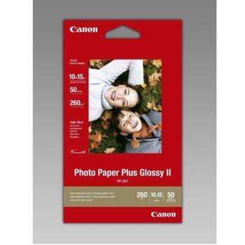Фотохартия Canon Plus Glossy II PP-201, 10x15 cm, за Canon Lucia & ChromaLife100, 50 листа image
