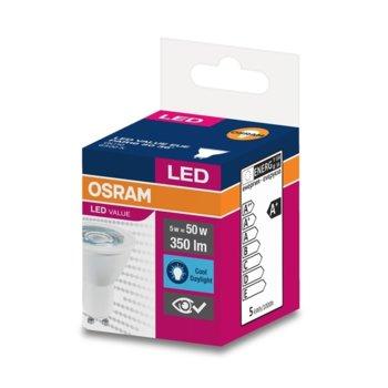 LED крушка Osram, GU10, 5W, 350 lm, 6500K image