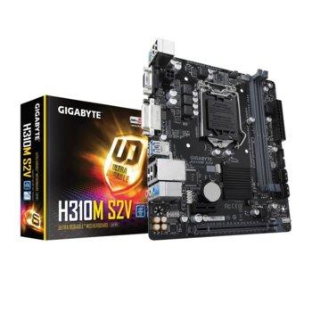 Дънна платка Gigabyte H310M S2V (rev. 1.0), H310, LGA1151, DDR4, PCI-Е 3.0(DVI), 4x SATA 6Gb/s, 4x USB 3.1 Gen1, mATX image