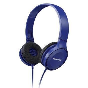 Слушалки Panasonic RP-HF100E, никелиран жак, 1.2 м кабел, сини  image