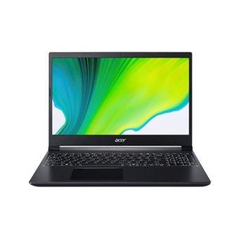 "Лаптоп Acer Aspire 7 A715-75G-79MH (NH.Q9AEX.009), шестядрен Comet Lake Intel Core i7-10750H 2.6/5.0 GHz, 15.6"" (39.62 cm) Full HD IPS Anti-Glare Display & GF GTX 1650 Ti 4GB, (HDMI), 8GB DDR4, 512GB SSD, 1x USB Type-C, Linux image"