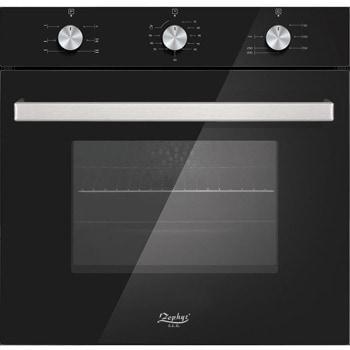 Фурна за вграждане Zephyr ZP 1441 BI6G, 63л. обем, турбо вентилатор, термостат, двойно свалящо се стъкло, черна image
