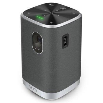 Преносим проектор Vivitek Qumi Z1V, DLP, 854 x 480, 10,000:1, 250 ANSI lm, HDMI, AUX, USB, SD, черен image