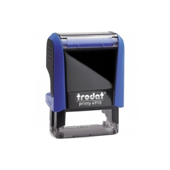 Автоматичен печат Trodat 4910 син, 9/26 mm, правоъгълен image