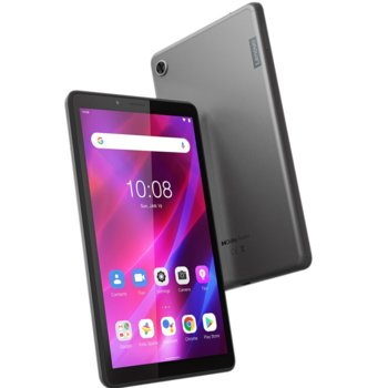 "Таблет Lenovo Tab M7 (3rd Gen) (ZA8C0050BG)(сив), 7"" (17.78 cm) HD IPS дисплей, четириядрен MediaTek MT8166 2.0GHz, 2GB RAM, 32GB Flash памет (+microSD слот), 2.0 & 2.0 MPix камера, Android, 236.9 g image"
