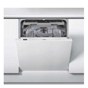 Съдомиялна за вграждане Whirlpool WRIC3C26, клас A++, 14 комплекта, 8 програми, 4 температури, защита от преливане, дисплей, бяла image