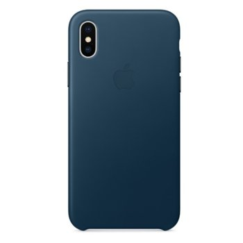 Apple iPhone X Leather Case - Cosmos Blue product