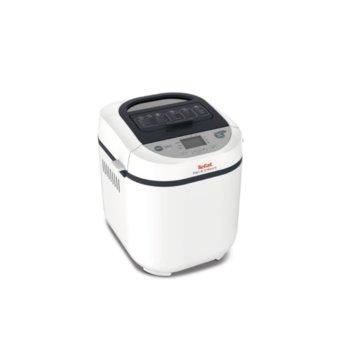 Хлебопекарна Tefal PF250135, 20 пpoгpaми, LCD дисплей, вмecтимocт 1000 г., 700 W, бяла  image