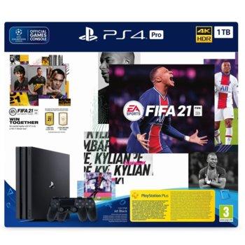Конзола Sony PlayStation 4 Pro 1TB в комплект с FIFA 21 и DualShock 4, черна image