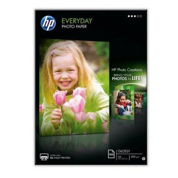 Фотохартия HP Q2510A, A4, гланцирана, 200 g/m2, 100 листа image