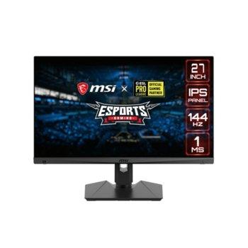 """Монитор MSI Optix MAG274R, 27"""" (68.58 cm) IPS панел, 144Hz, Full HD, 1ms, 300 cd/m2, DisplayPort, HDMI, USB image"""