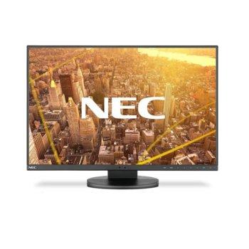 """Монитор NEC MultiSync EA241WU, 24"""" (60.96 cm), IPS панел, Full HD, 5 ms, 300 cd/m2, DisplayPort, HDMI, DVI-D image"""