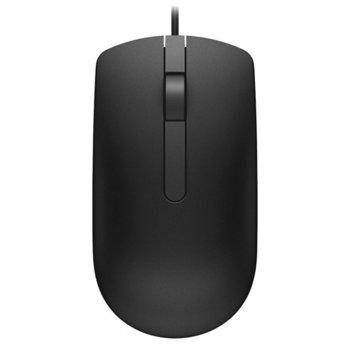 Мишка Dell MS116, оптична (1000 dpi), USB, черна image