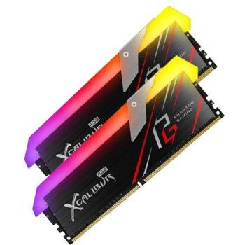 Памет 16GB (2x8GB) DDR4 3600MHz, TeamGroup Xcalibur Phantom RGB, TF8D416G3600HC18EDC01, 1.35V image