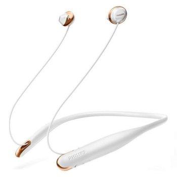 Слушалки Philips SHB4205WT/00, безжични, тапи, бяли image