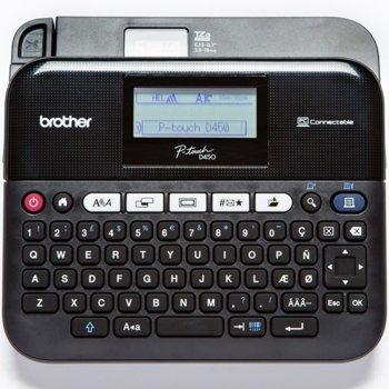 Етикетен баркод принтер Brother PT-D450VP Labelling system, LCD, QWERTY клавиатура, 20 mm/s image