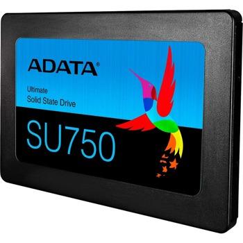 """Памет SSD 256GB, ADATA SU750, SATA 6Gb/s, 2.5""""(6.35 cm), скорост на четене 550 MB/s, скорост на запис 520MB/s image"""