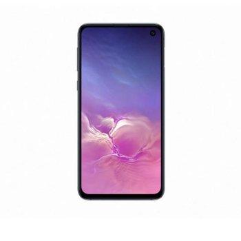 "Смартфон Samsung Galaxy S10e (черен), поддържа 2 sim карти, 5.8"" (14.732 cm) Dynamic AMOLED дисплей, осемядрен Exynos 9820 Octa (2x 2.7GHz & 2x 2.3GHz & 4x 1.9GHz), 6GB RAM, 128GB Flash памет (+ microSD слот), 12.0 + 16.0 & 10.0 Mpix camera image"