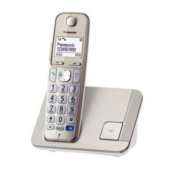 """Безжичен телефон Panasonic KX-TGE210FXN, 1.8""""(4.57 cm) монохромен дисплей, сребрист image"""
