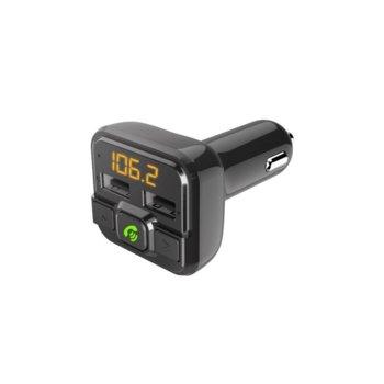 Bluetooth ресивър (приемник) FM трансмитер HAMA 14158, Bluetooth, USB, microSD, черен image
