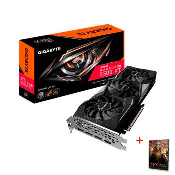 Видео карта AMD Radeon RX 5500 XT с подарък игра Godfall, 4GB, Gigabyte Gaming OC, PCI-E 4.0, GDDR6, 128bit, 3x DisplayPort, HDMI image