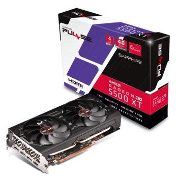 Видео карта AMD Radeon RX 5500, 4GB, Sapphire PULSE RX 5500 XT, PCI-E 3.0, GDDR6, 128bit, DisplayPort, HDMI  image