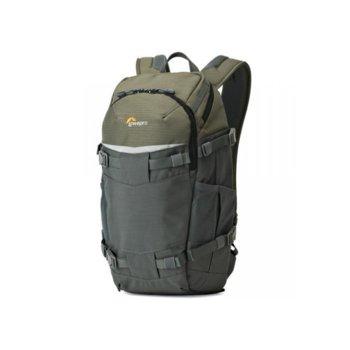 """Раница за фотоапарат Lowepro Flipside Trek 250AW, за DSLR фотоапарат и обективи, джоб за 10"""" таблет, полиестер, зелена-сива image"""