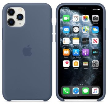 Калъф за Apple iPhone 11 Pro Max, силиконов, Apple Silicone Case MX032ZM/A, син image