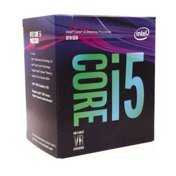 Процесор Intel Core i5-8600 шестядрен (3.1/4.3GHz 9MB Cache, 350MHz-1.15GHz GPU, LGA1151) BOX, с охлаждане image