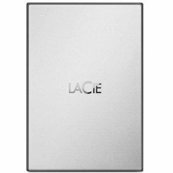 """Твърд диск 1TB, LaCie Drive STHY1000800 (бял), външен, 2.5"""" (6.35 cm), USB 3.0 image"""