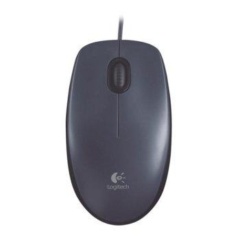 Мишка Logitech M100, оптична (1000dpi), черна/сива, USB image
