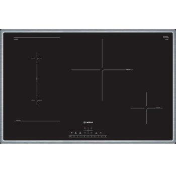 Стъклокерамичен плот за вграждане Bosch PVS845FB5E SER6, 4 нагревателни зони, 17 степени на мощност, QuickStart функция, черен image